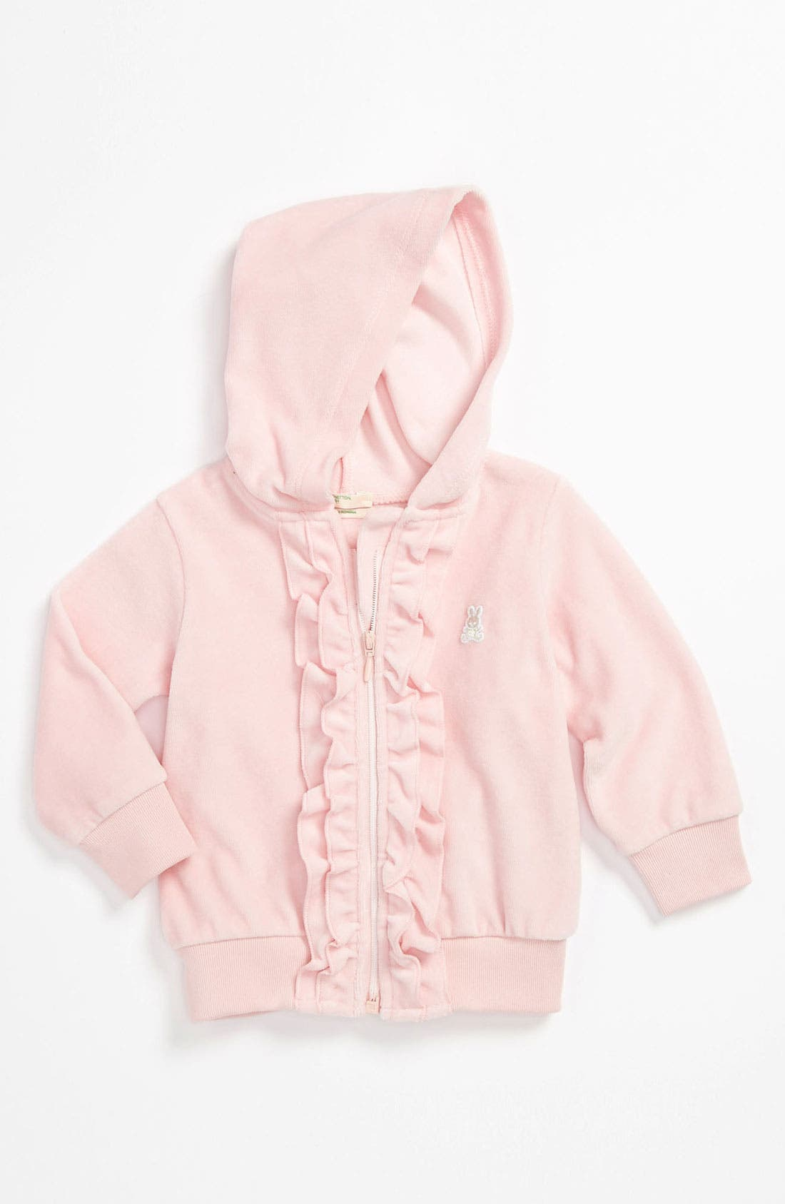 Alternate Image 1 Selected - United Colors of Benetton Kids Velour Hoodie (Baby)