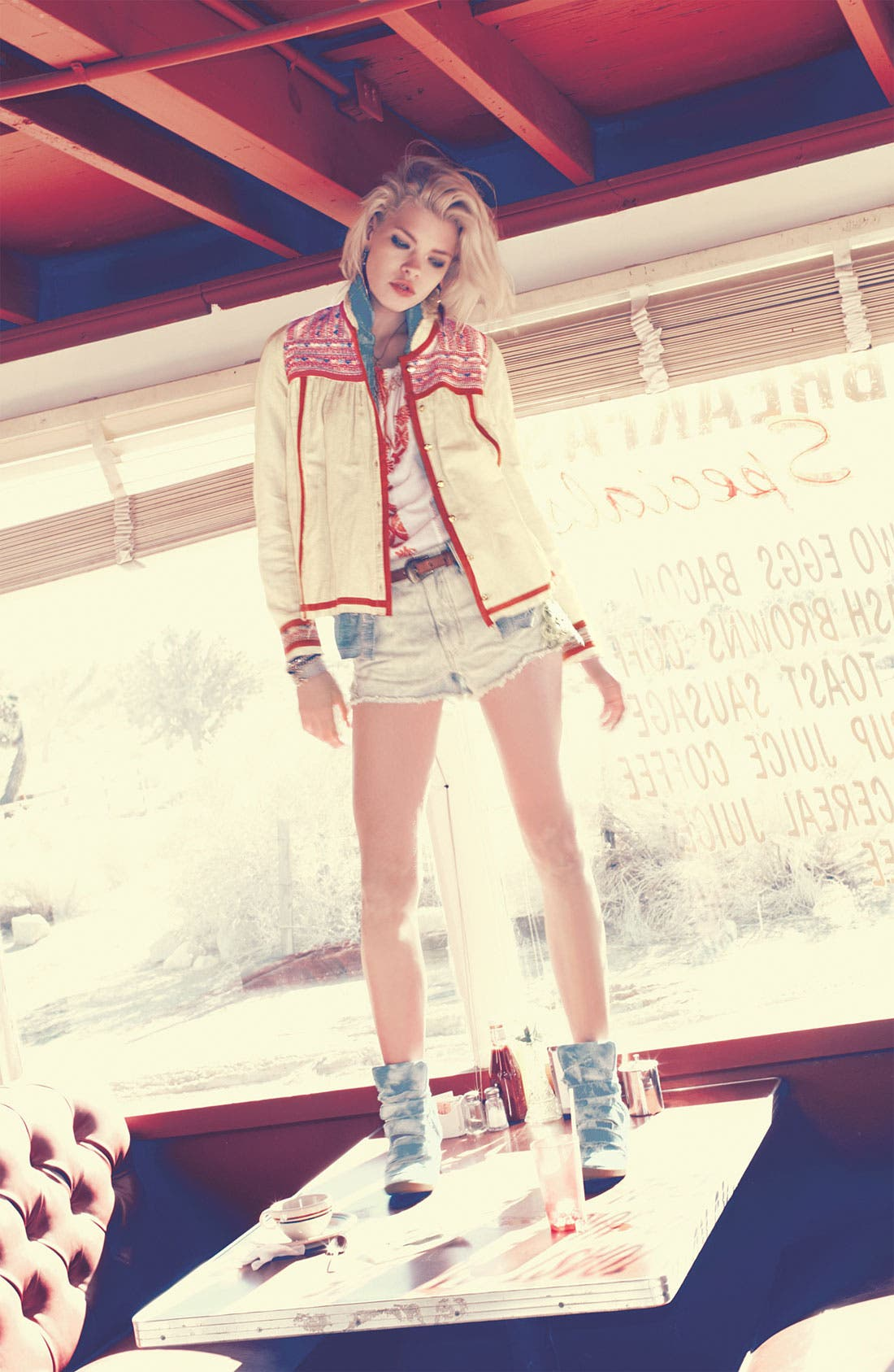 Alternate Image 1 Selected - Free People Jacket, Shirt & Shorts
