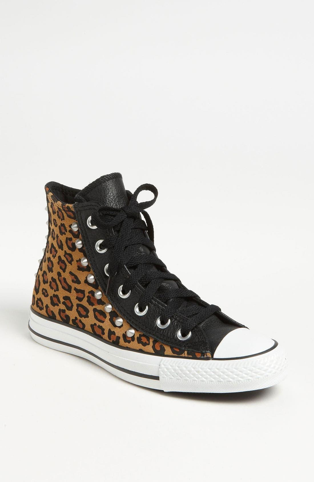 Main Image - Converse Chuck Taylor® All Star® Leopard Stud High Top Sneaker