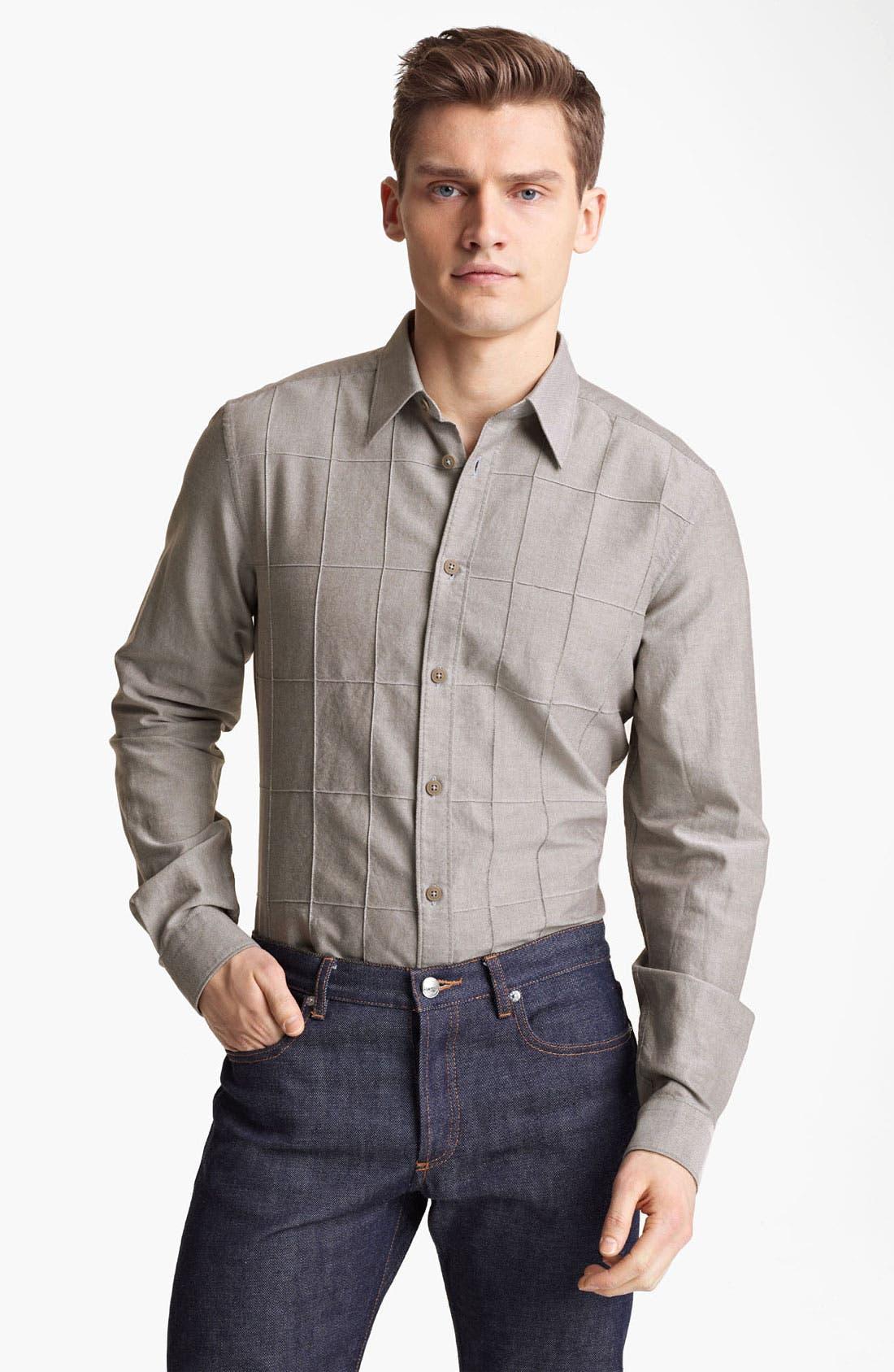 Alternate Image 1 Selected - Z Zegna Slim Fit Sport Shirt