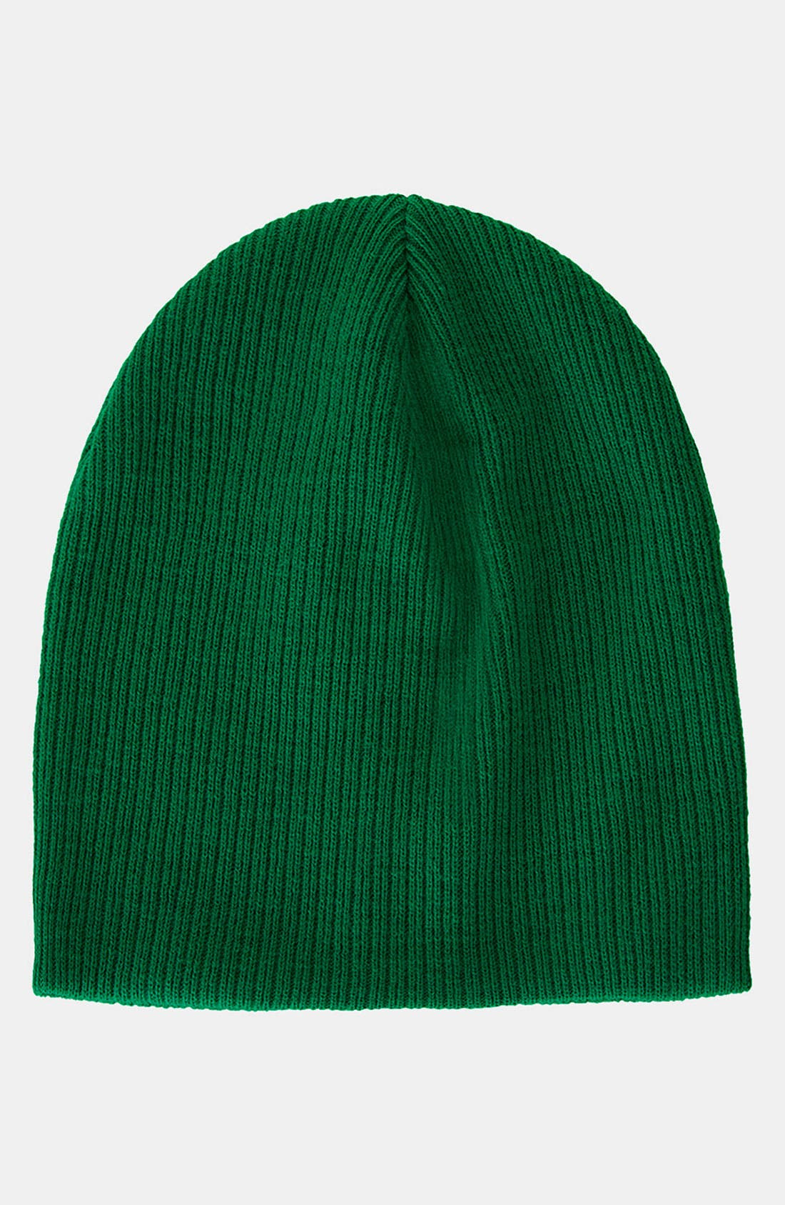 Alternate Image 1 Selected - Topshop 'Skater' Ribbed Beanie