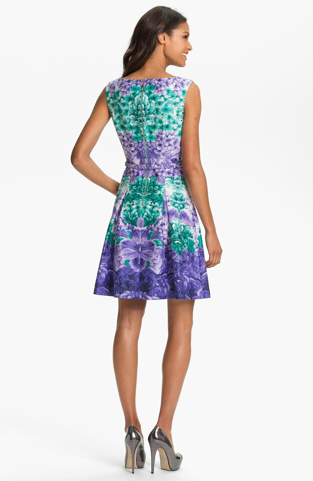 Alternate Image 2  - Laundry by Shelli Segal Print Fit & Flare Dress