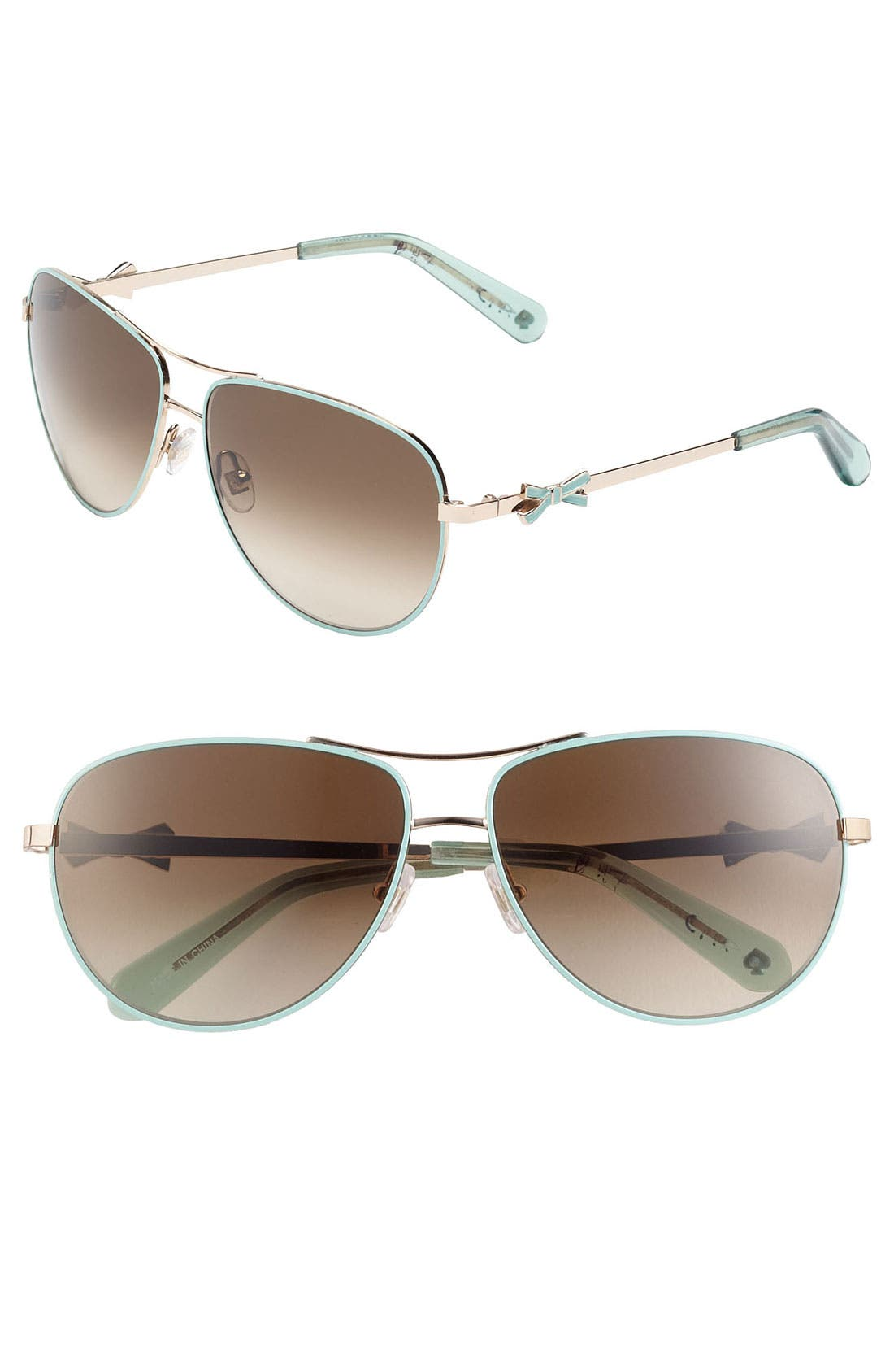 Alternate Image 1 Selected - kate spade new york 'circe' 59mm metal aviator sunglasses