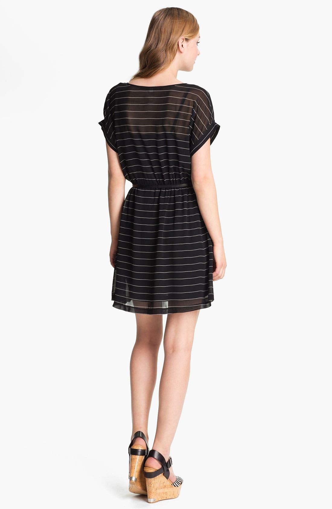 Alternate Image 2  - Kensie Belted Stripe Dress