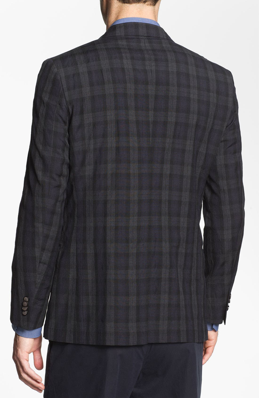 Alternate Image 2  - Michael Kors Trim Fit Plaid Wool Sportcoat