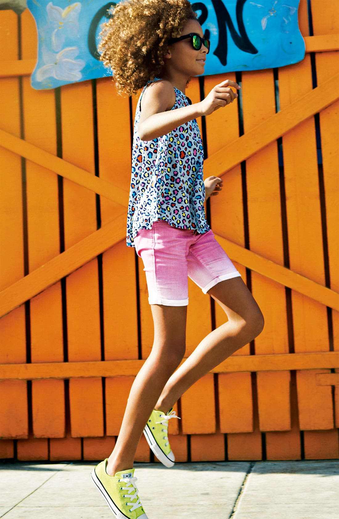 Alternate Image 2  - Tractr Ombré Bermuda Shorts (Big Girls)