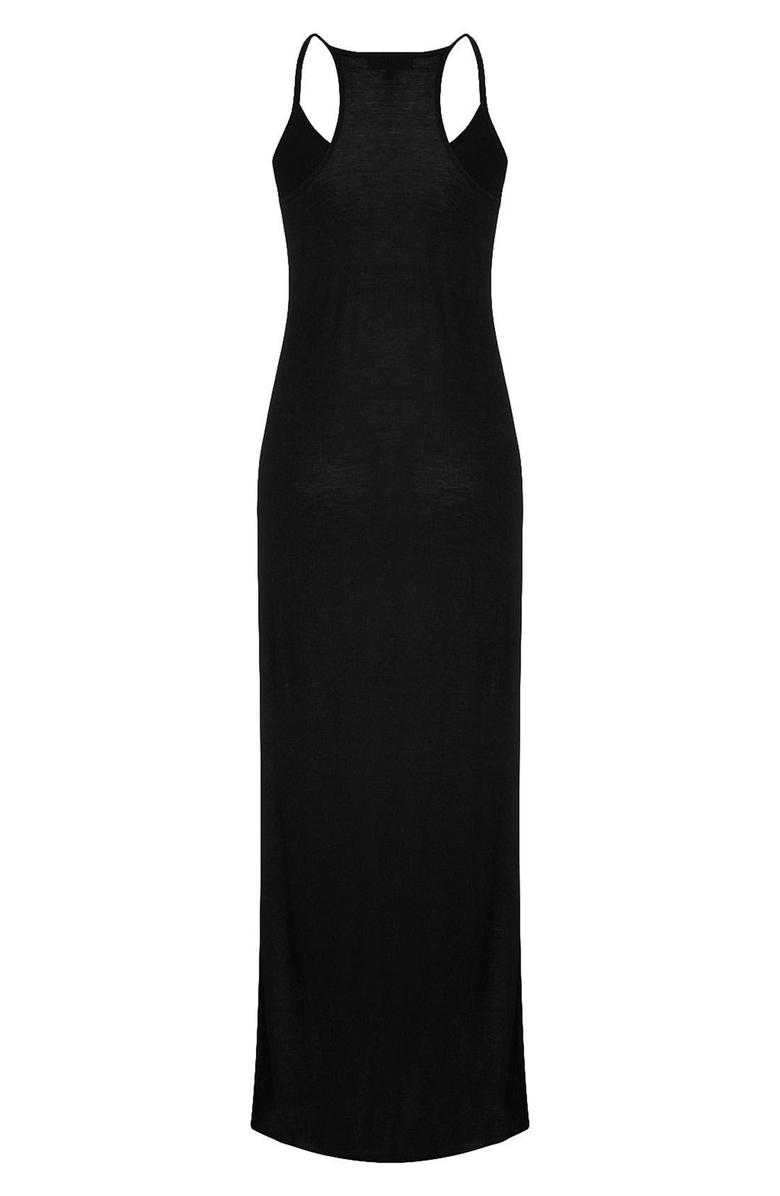 Cami Strap Maxi Dress,                         Main,                         color, Black