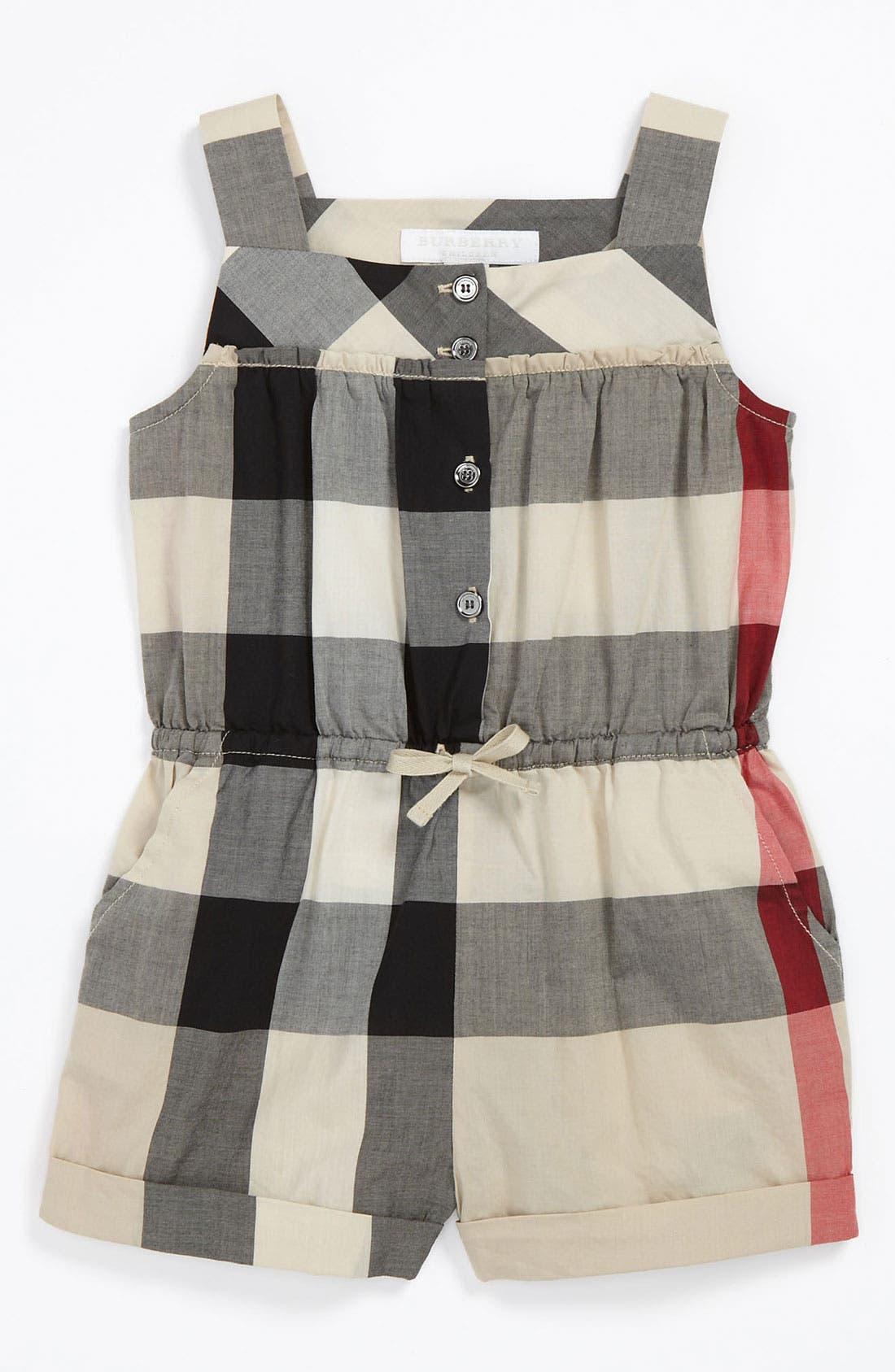 Main Image - Burberry 'Rosemarie' Coveralls (Baby)