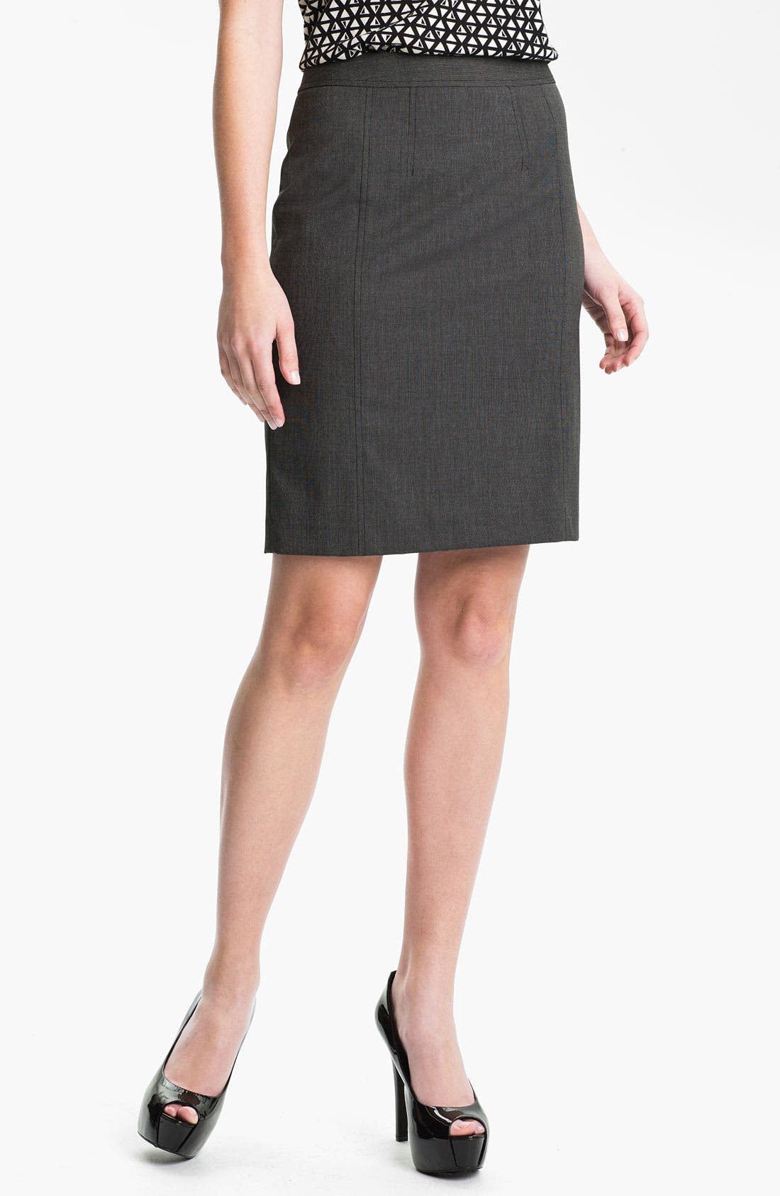 Alternate Image 1 Selected - Halogen® 'End on End' Skirt (Petite)