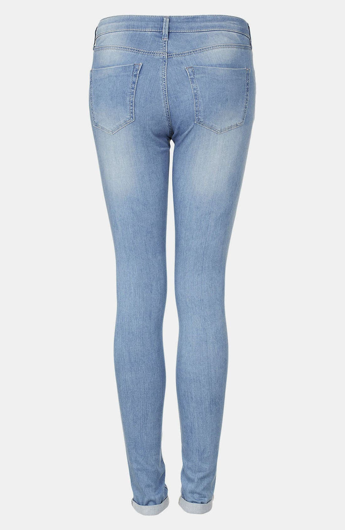 Alternate Image 2  - Topshop Moto 'Leigh' Bleach Wash Skinny Jeans (Regular & Short)