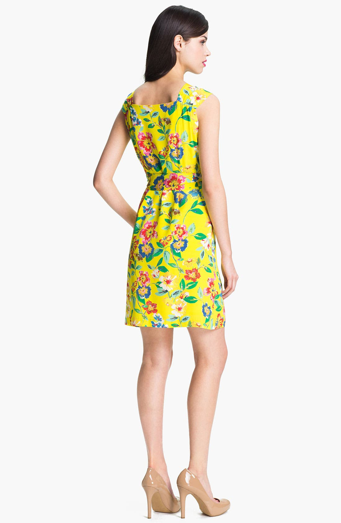 Alternate Image 2  - kate spade new york 'cathleen' print silk wrap dress