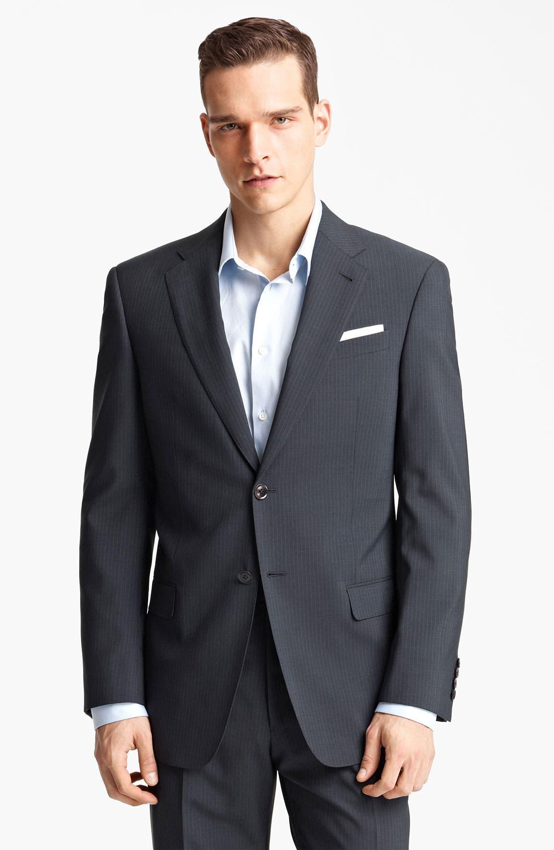 Alternate Image 1 Selected - Armani Collezioni 'Giorgio' Pinstripe Suit
