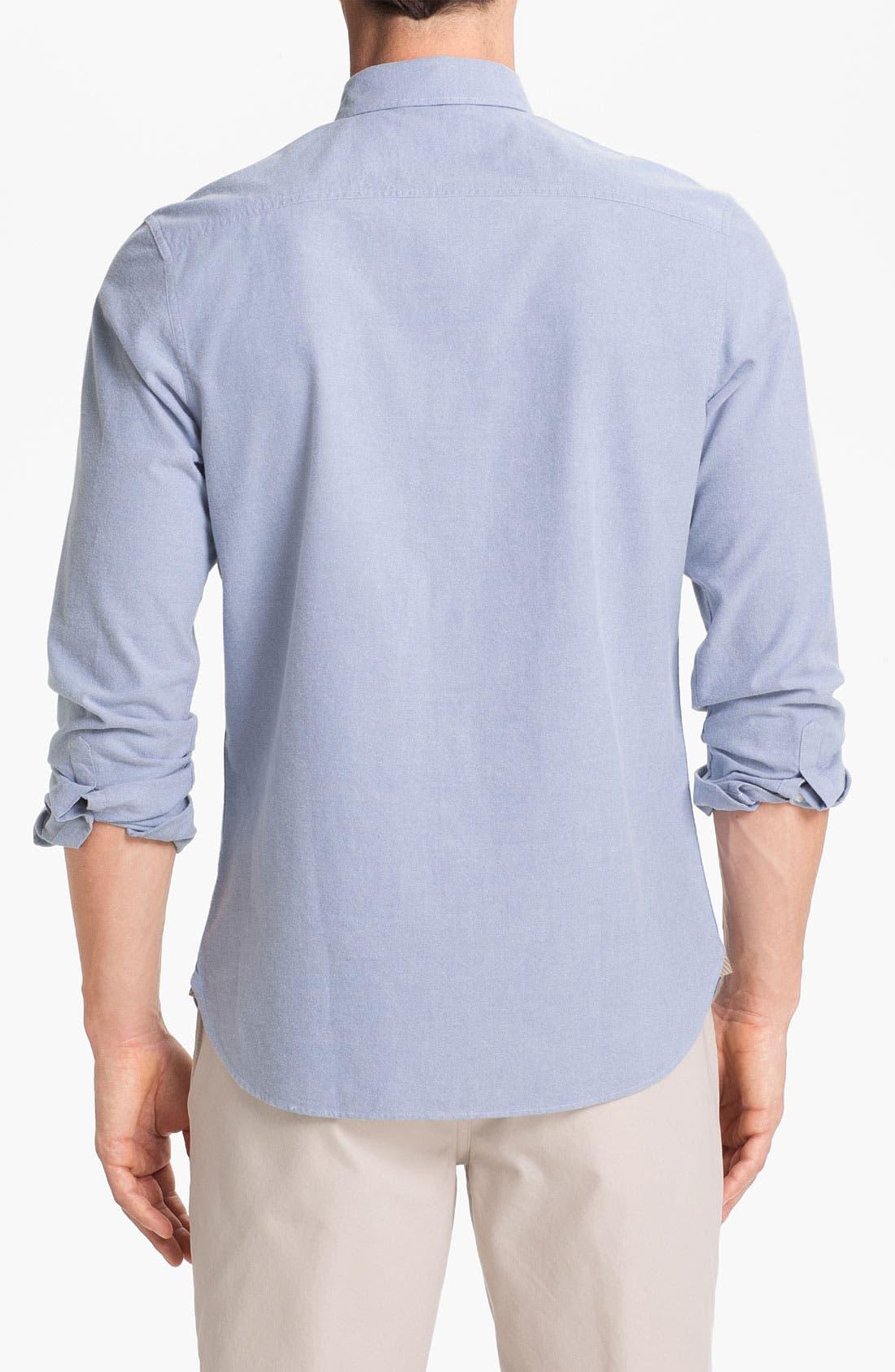 Alternate Image 2  - Wallin & Bros. Trim Fit Oxford Sport Shirt