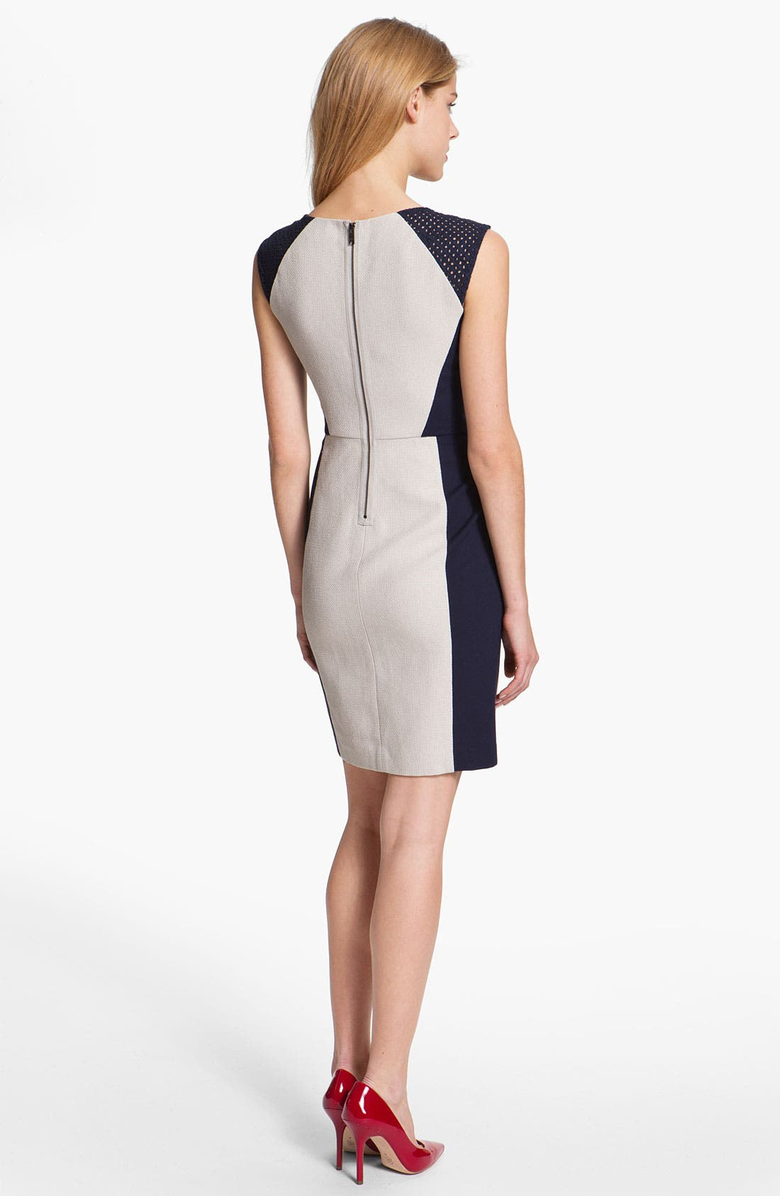 Alternate Image 2  - DKNYC Eyelet Trim Colorblock Dress