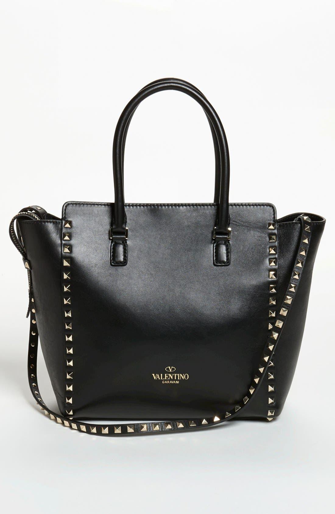 Alternate Image 4  - Valentino 'Rockstud' Double Handle Leather Tote