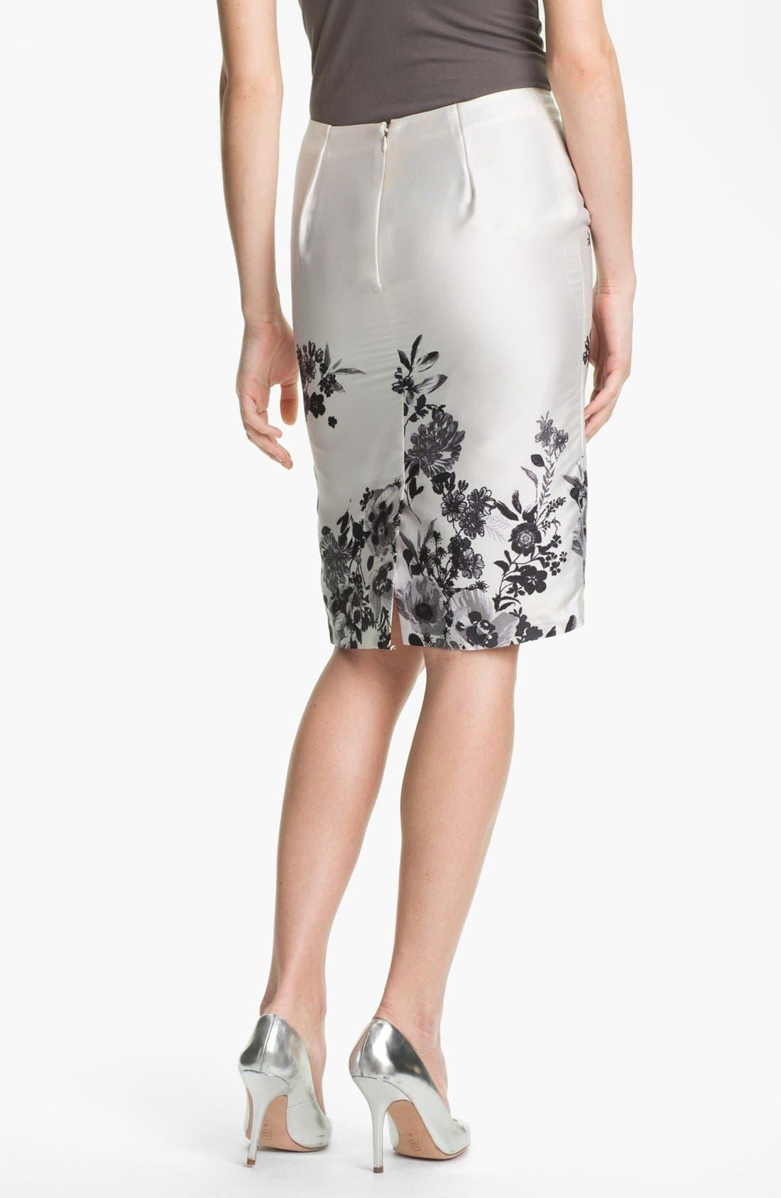 Alternate Image 2  - Vince Camuto 'Graphic Garden' Pencil Skirt