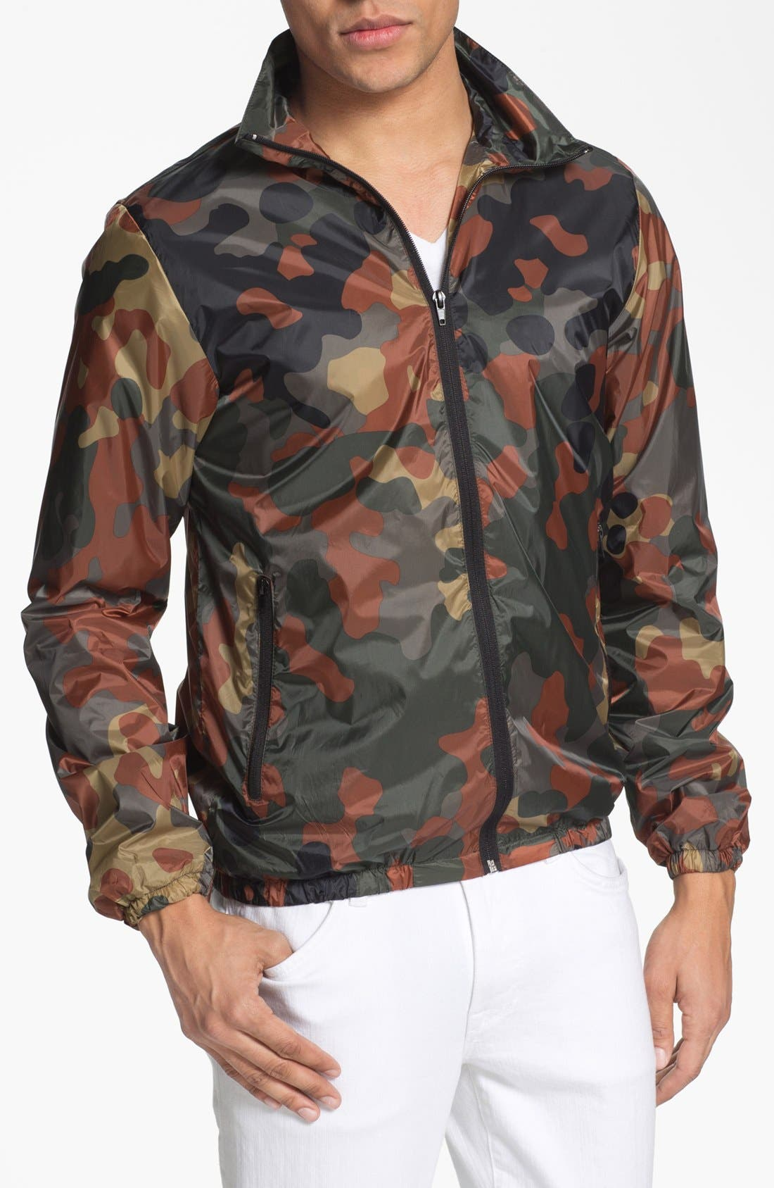 Alternate Image 1 Selected - Scotch & Soda Lightweight Camo Jacket