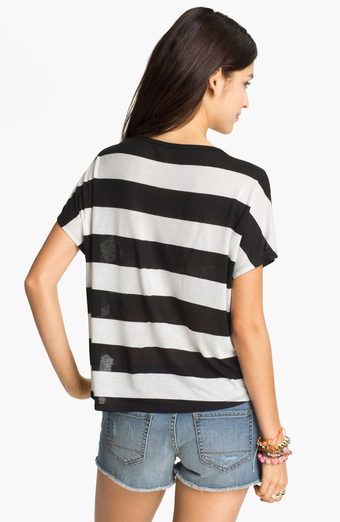 Alternate Image 2  - Elodie Stripe Crop Tee (Juniors)