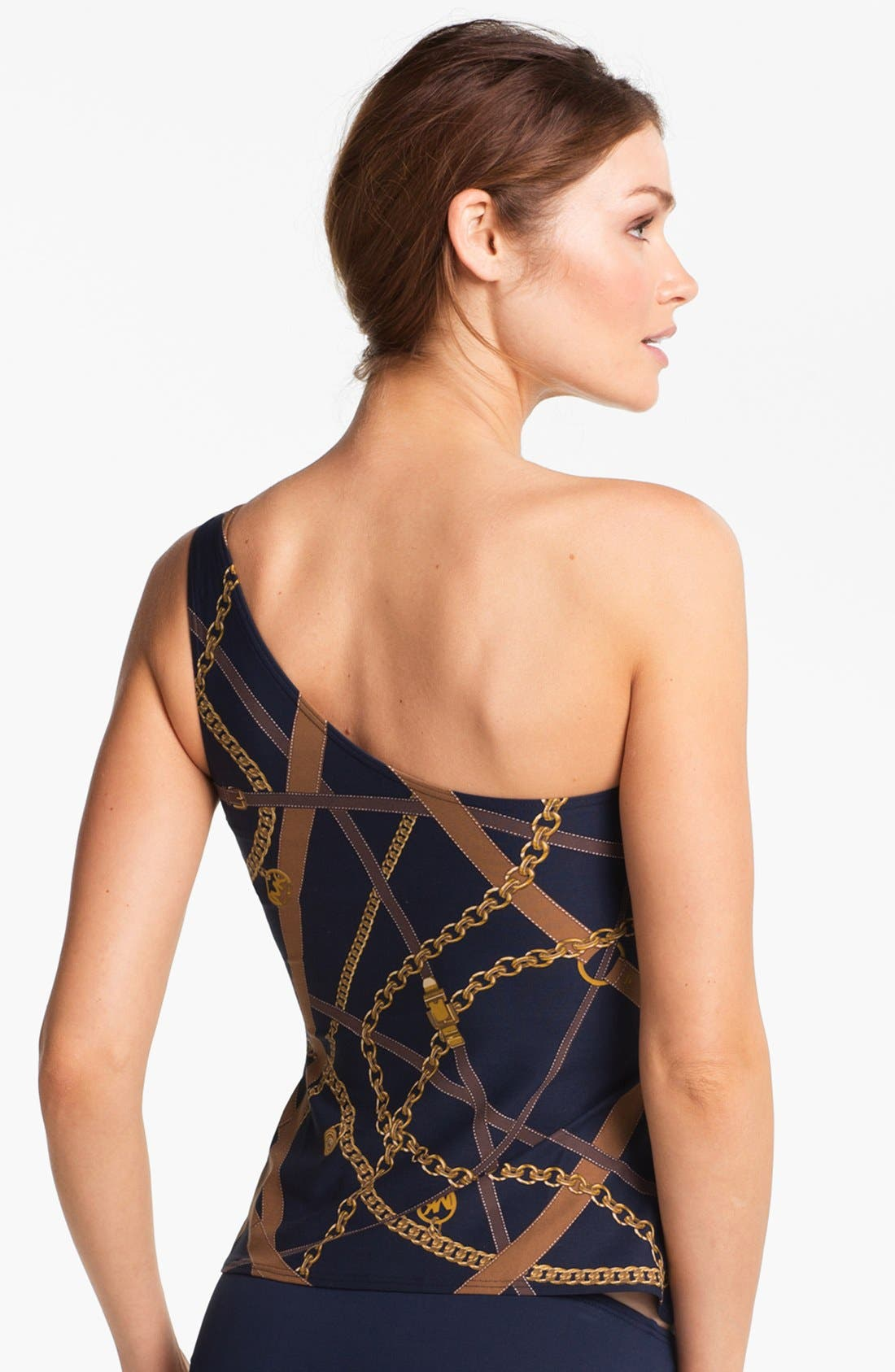 Alternate Image 2  - MICHAEL Michael Kors One Shoulder Tankini Top