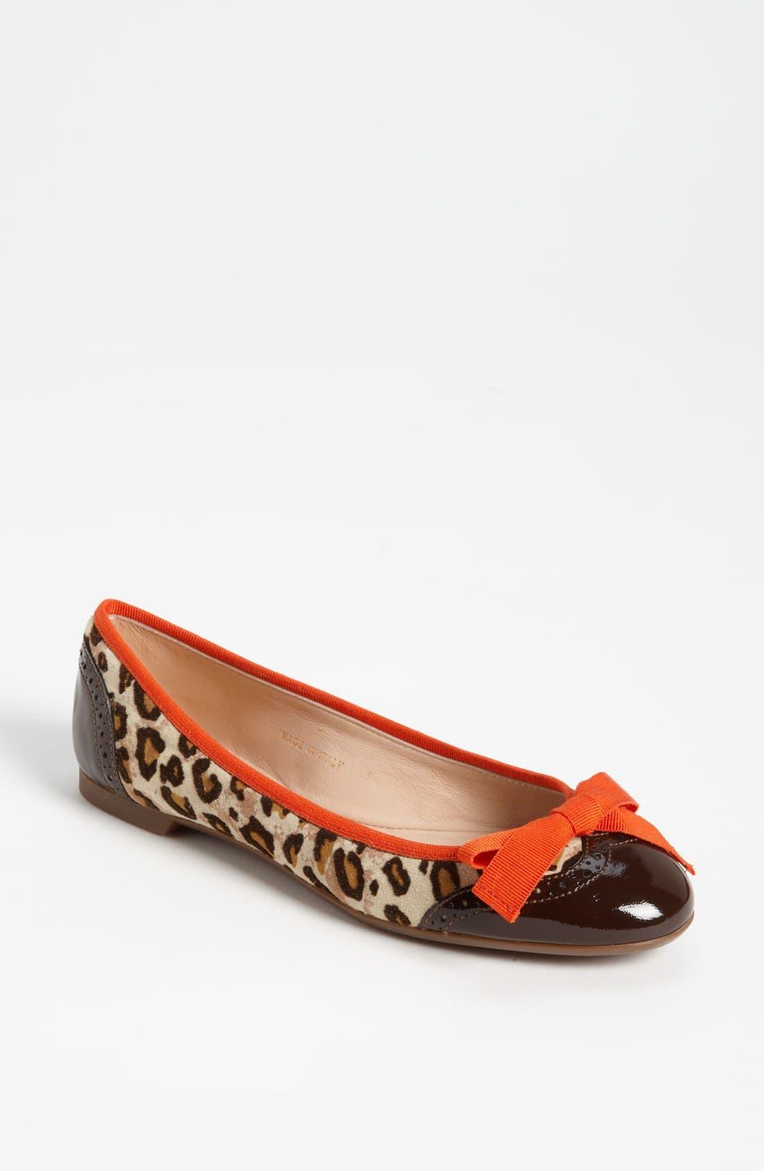 Main Image - Sweet Ballerina 'Biancospino' Leopard Print Ballet Flat