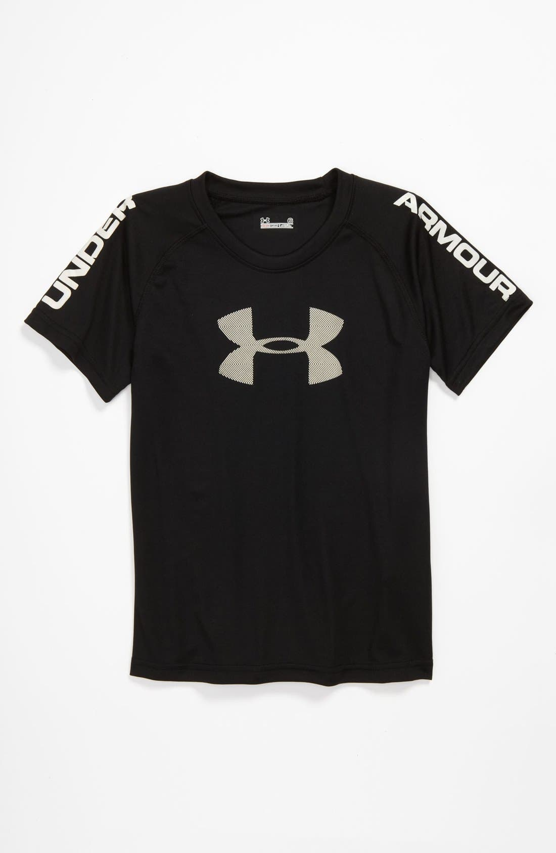 Alternate Image 1 Selected - Under Armour HeatGear® T-Shirt (Little Boys)