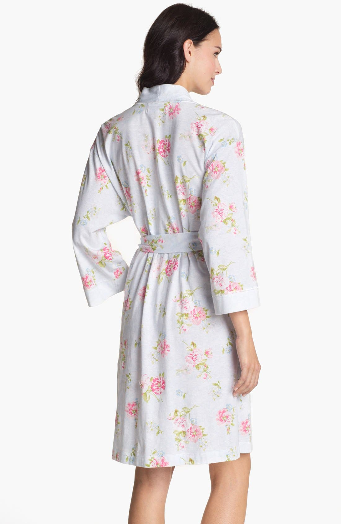 Alternate Image 2  - Carole Hochman Designs Short Floral Print Robe