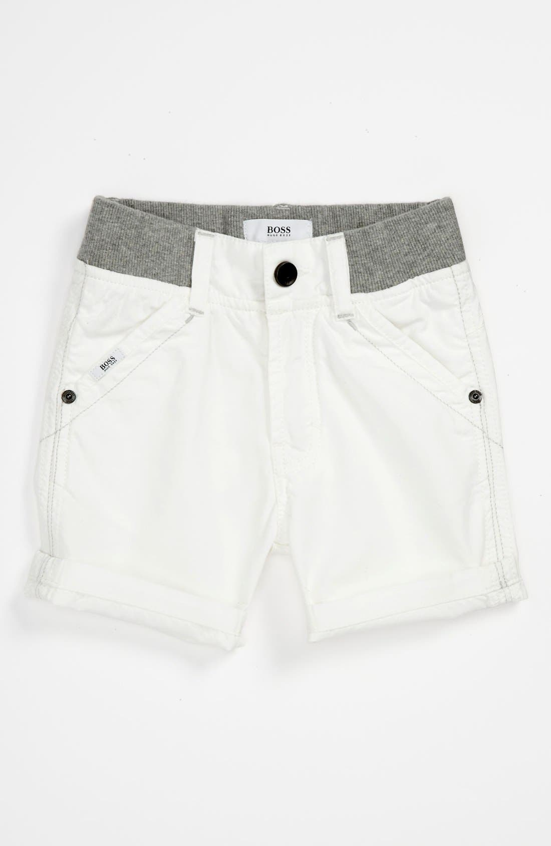 Alternate Image 1 Selected - BOSS Kidswear Poplin Bermuda Shorts (Toddler)