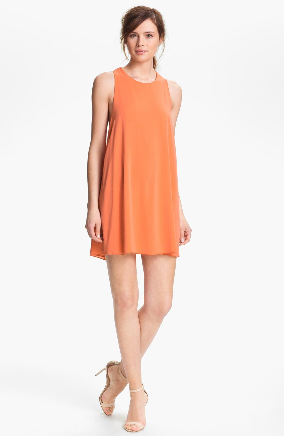 Main Image - Alice + Olivia 'Marion' Twist Back Tunic Dress