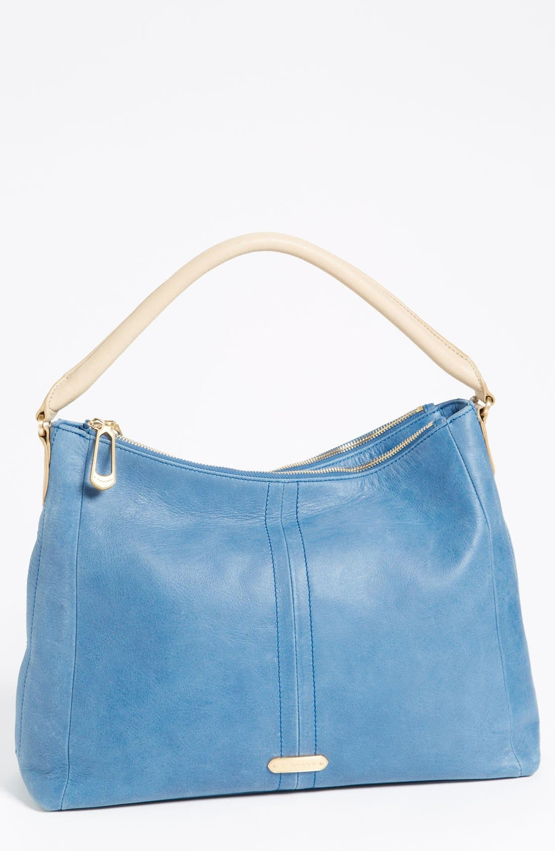 Main Image - T Tahari Pleated Double Zip Hobo, Large