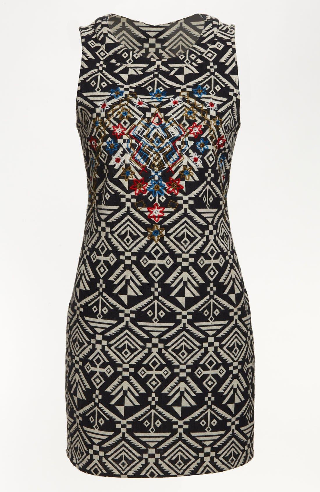 Alternate Image 1 Selected - ASTR Tribal Print Body-Con Dress