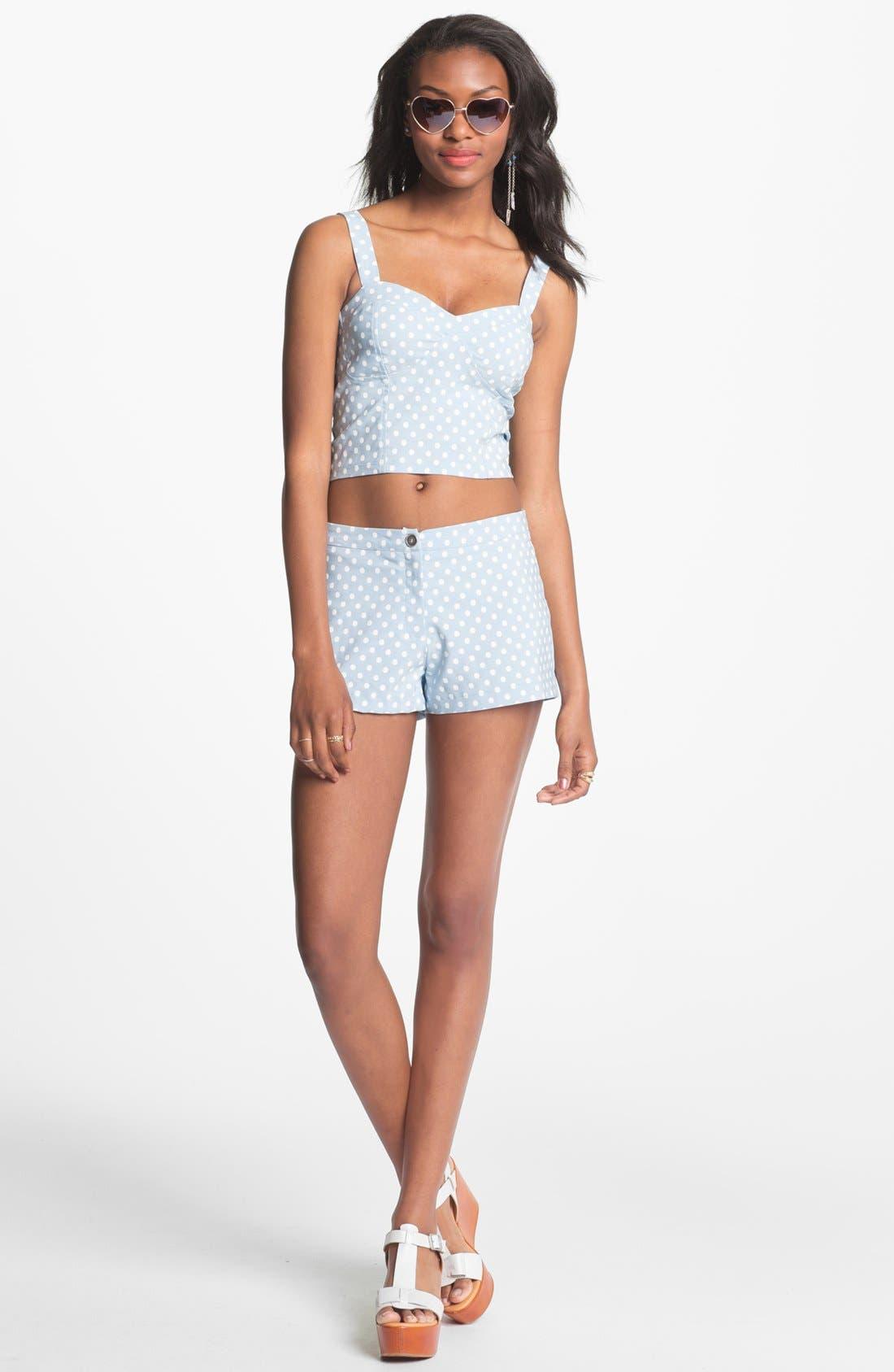 Alternate Image 2  - Living Doll Polka Dot Shorts (Juniors)(Online Only)