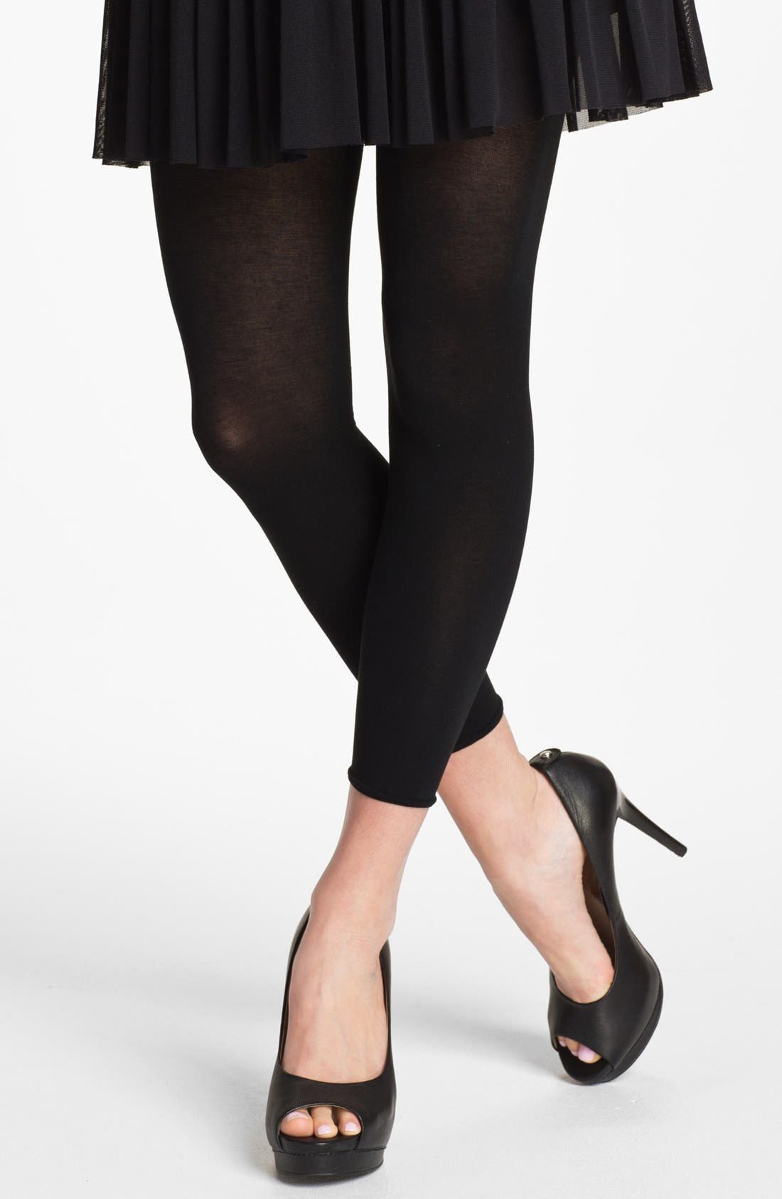Main Image - DKNY 'Luxe Cotton' Footless Tights