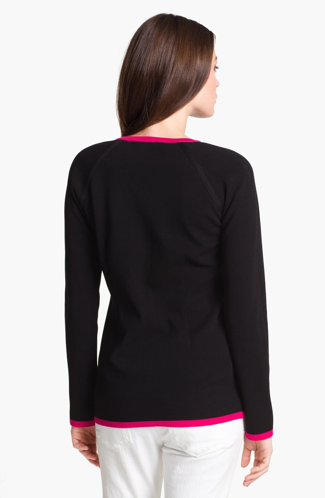 Alternate Image 2  - Misook 'Brooke' Sweater Jacket (Petite) (Online Only)