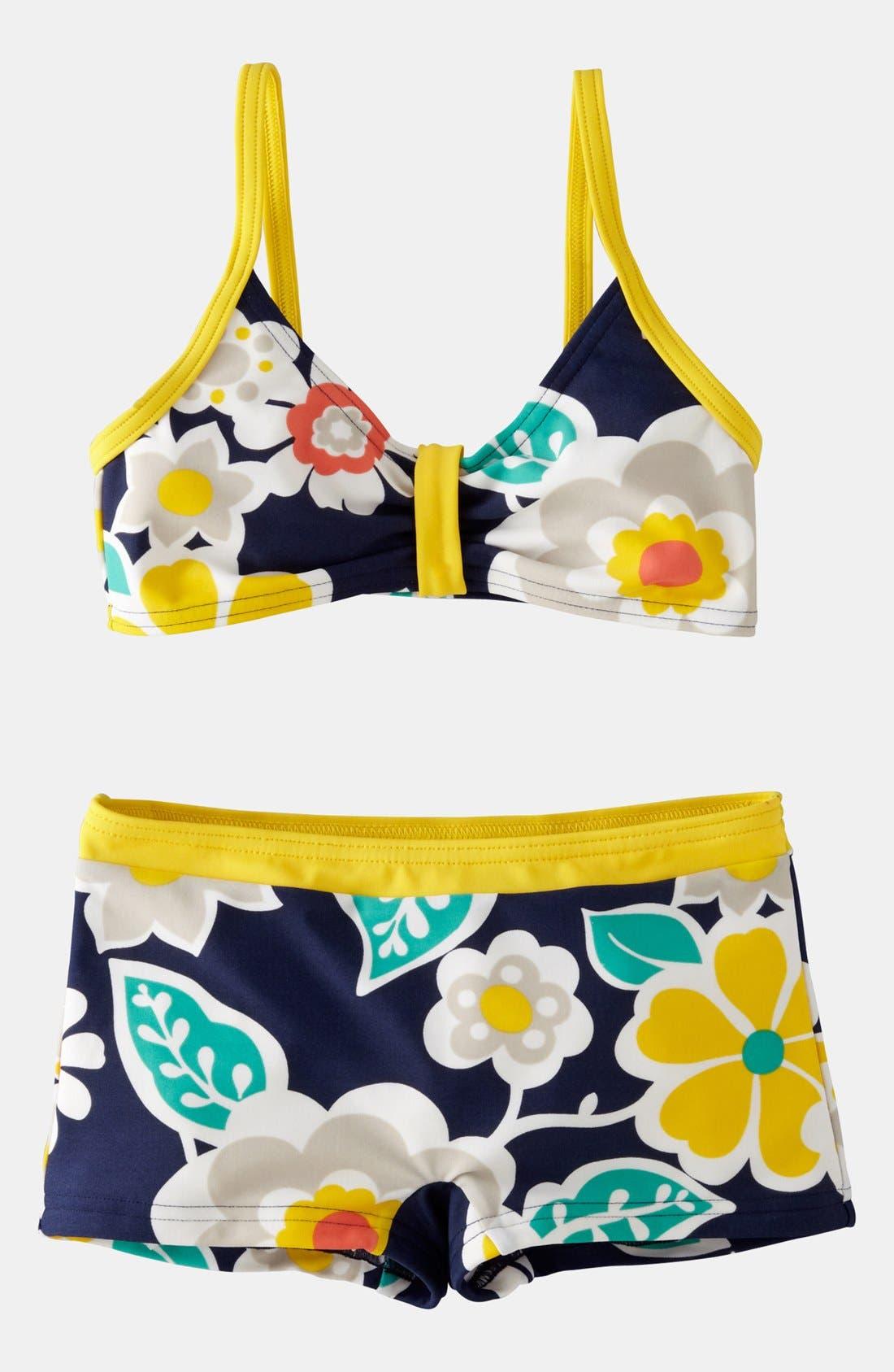 Main Image - Mini Boden 'Surf' Two Piece Swimsuit (Little Girls & Big Girls)