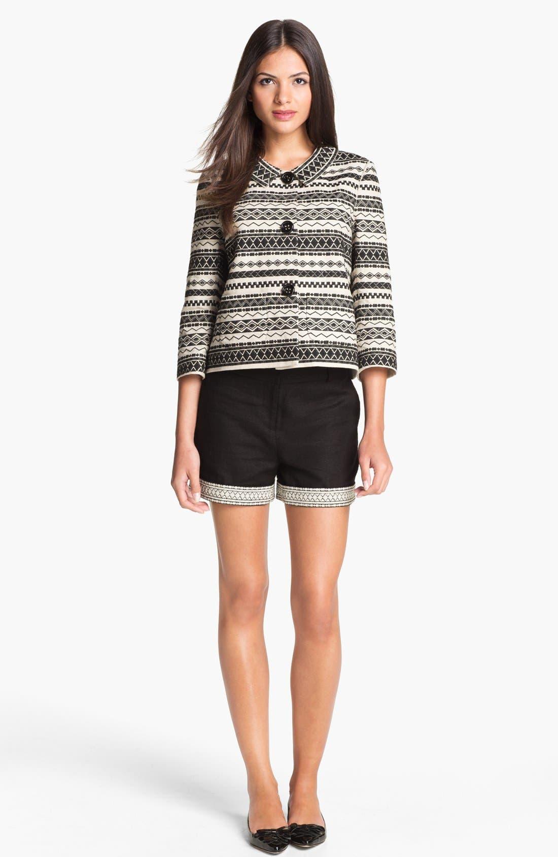 Alternate Image 5  - kate spade new york 'roslyn' embroidered shorts