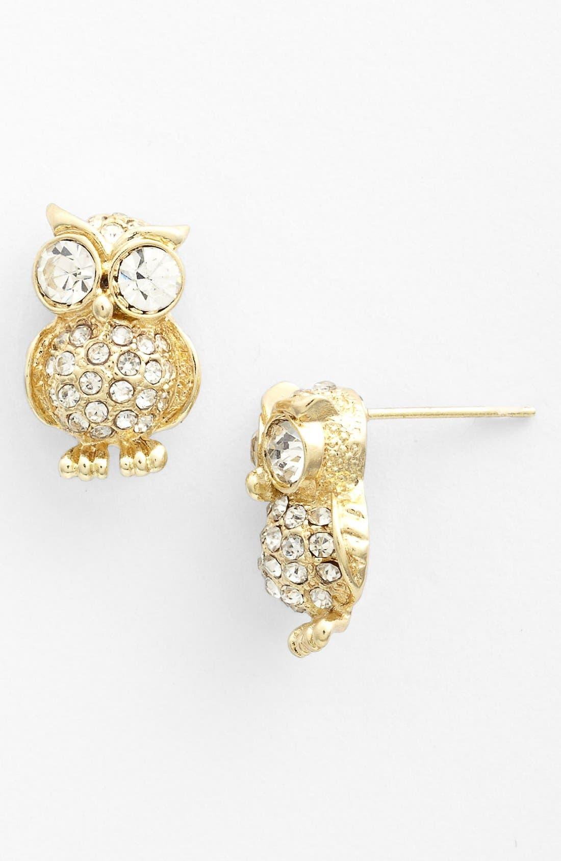 Alternate Image 1 Selected - Cara Owl Stud Earrings