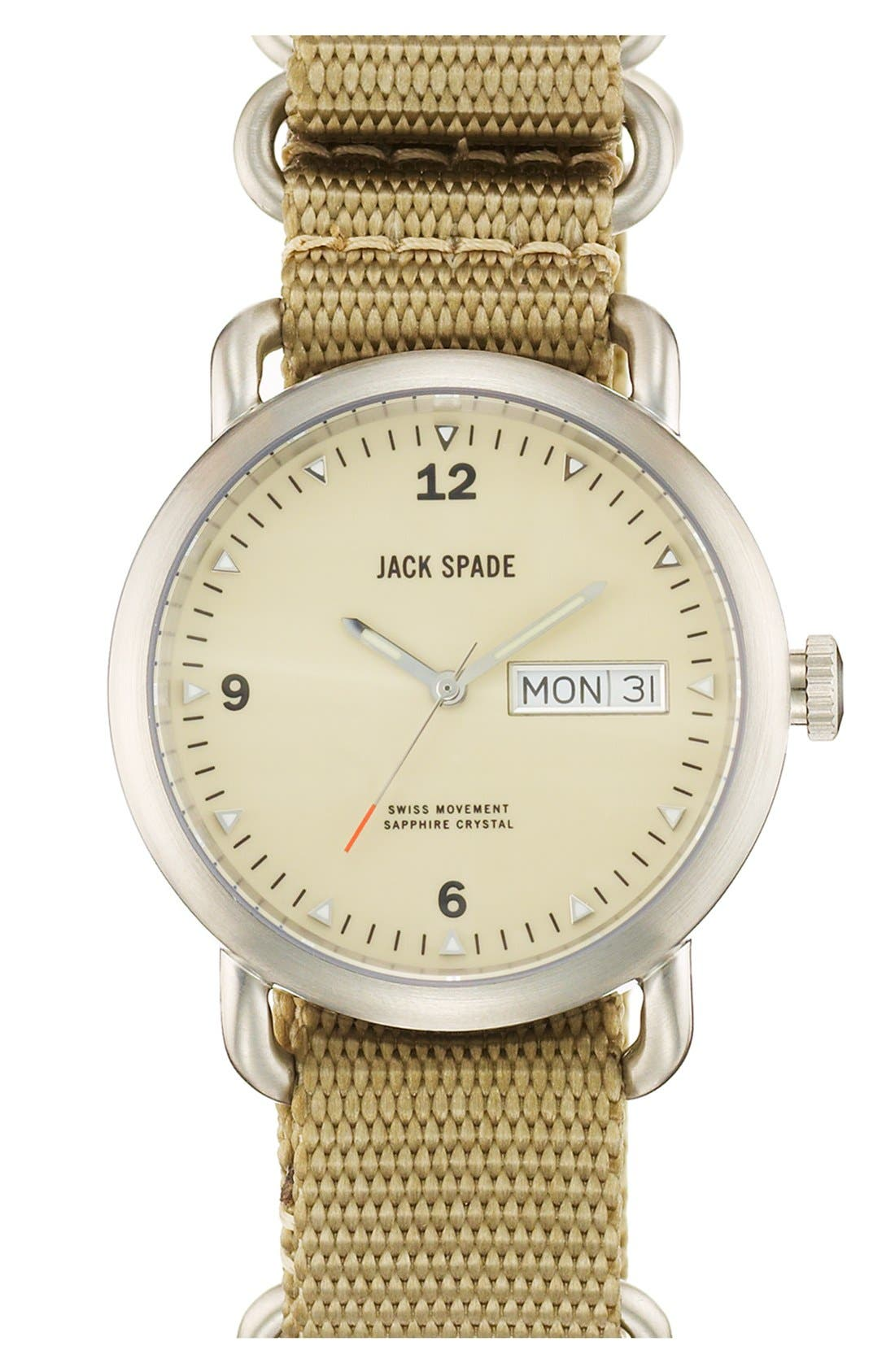 Main Image - Jack Spade 'Classic Military - Conway' Round Watch, 38mm