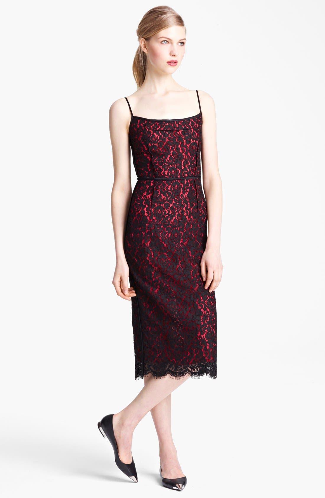 Alternate Image 1 Selected - Michael Kors Floral Lace Sheath Dress