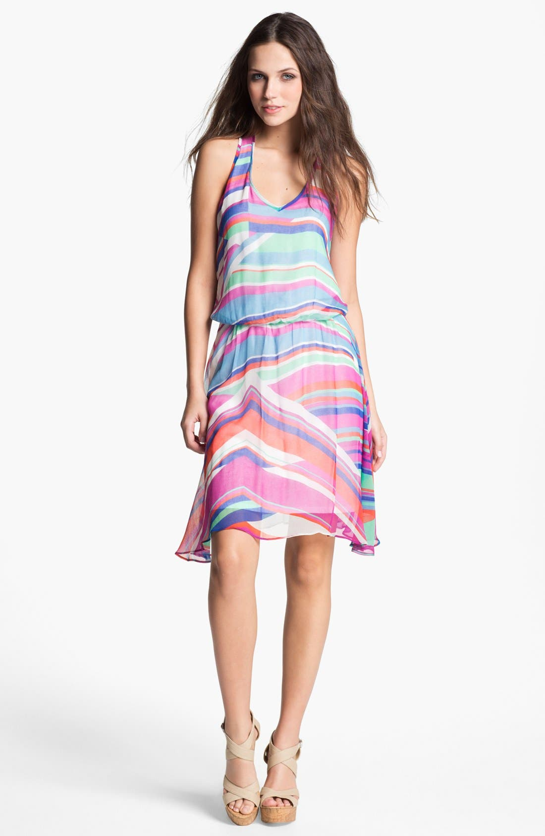 Alternate Image 1 Selected - Ella Moss Print Chiffon Tank Dress