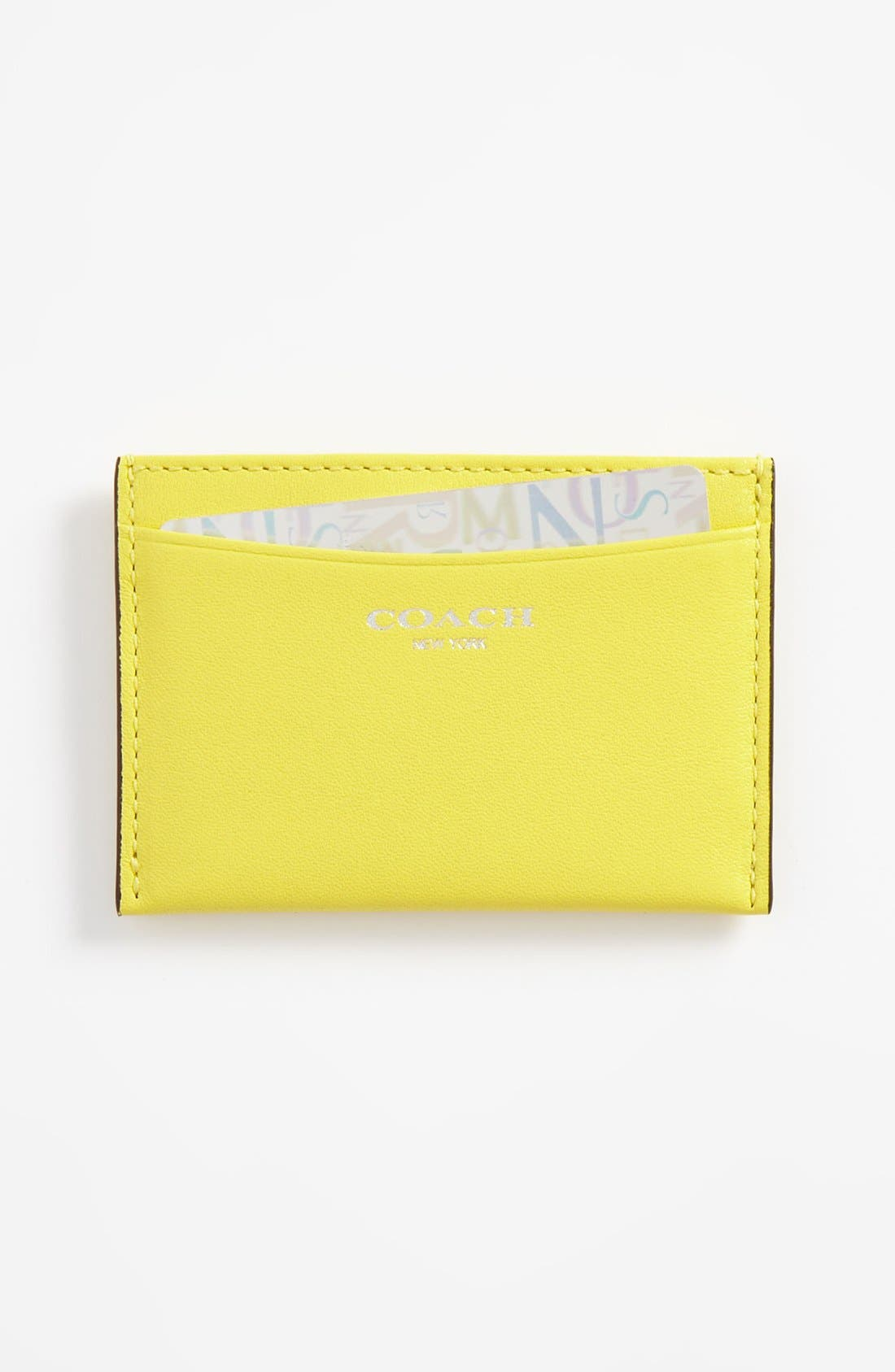 Alternate Image 1 Selected - COACH 'Legacy' Leather Card Case