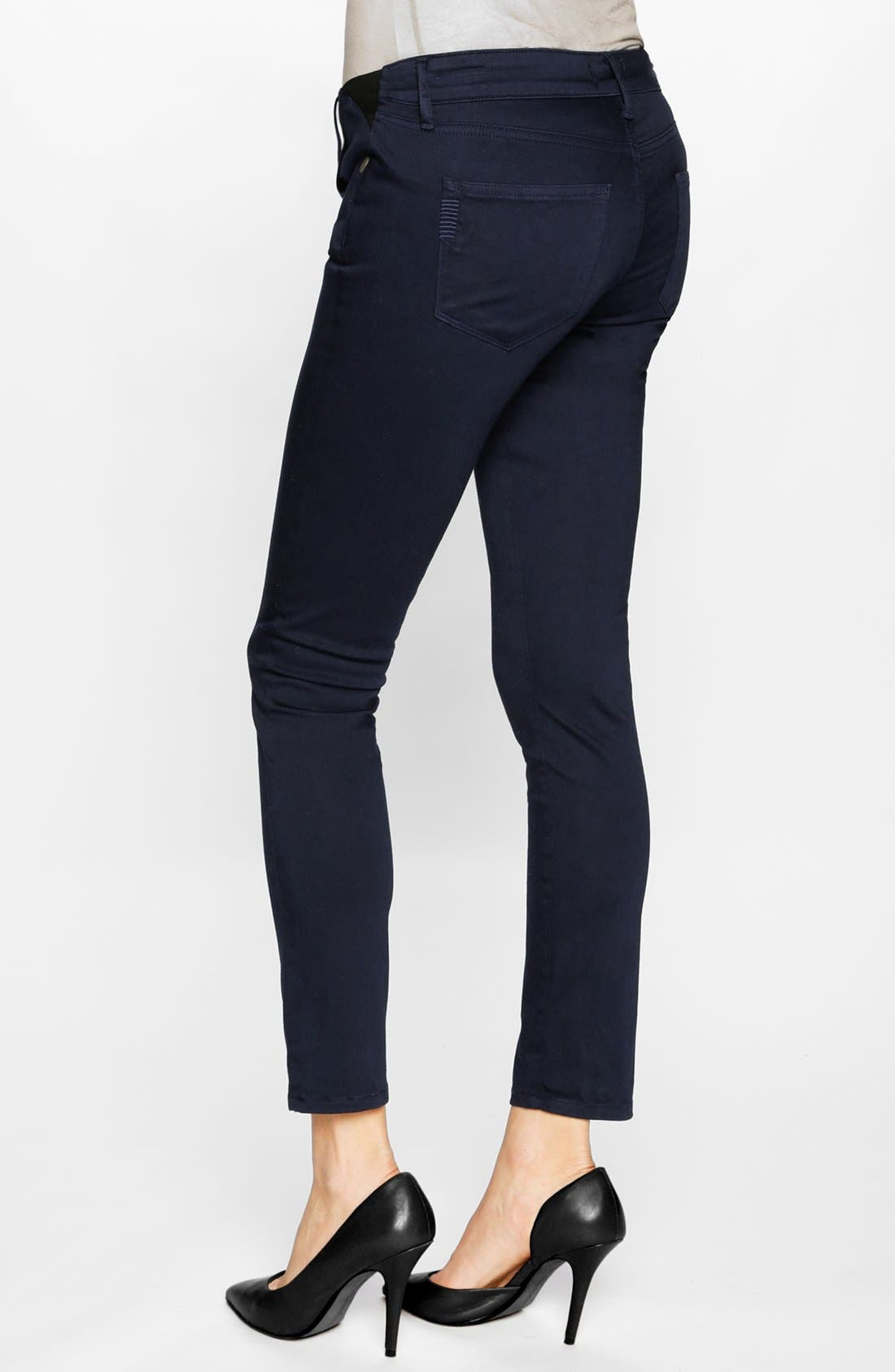 Alternate Image 2  - Paige Denim 'Verdugo' Maternity Ankle Ultra Skinny Jeans (Pacific Dusk)