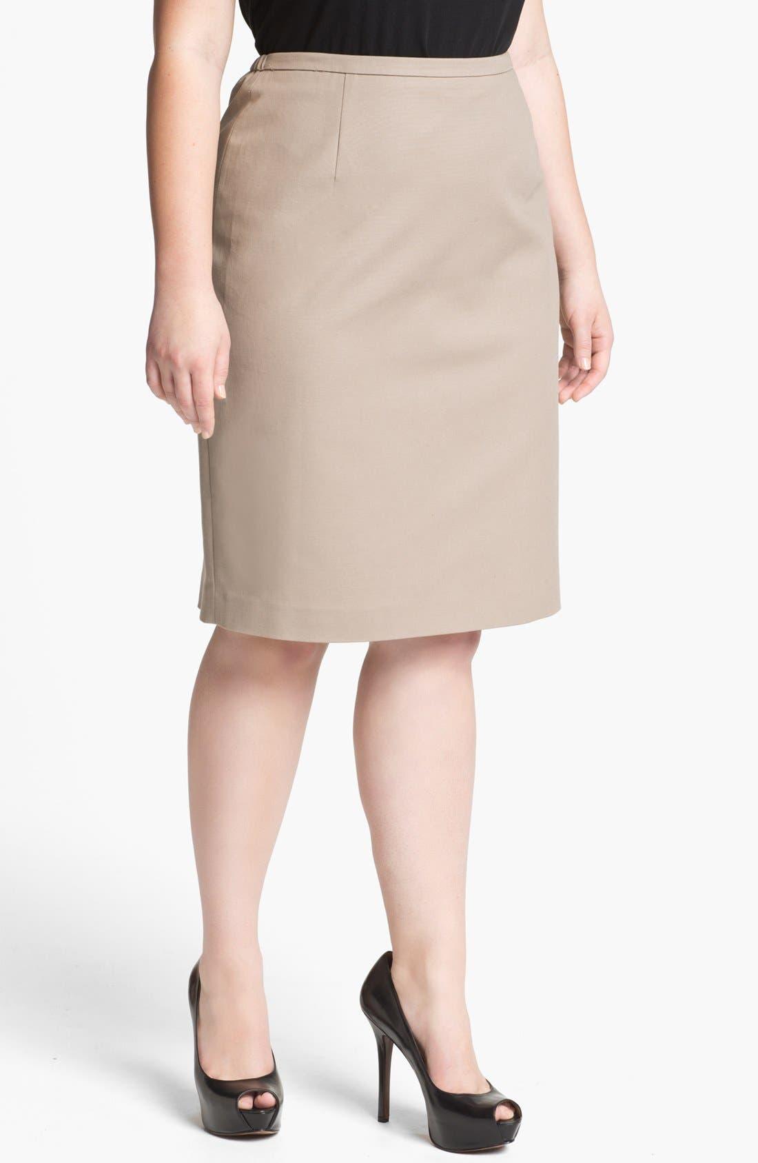 Alternate Image 1 Selected - Tahari Woman 'Zander' Pencil Skirt (Plus Size)