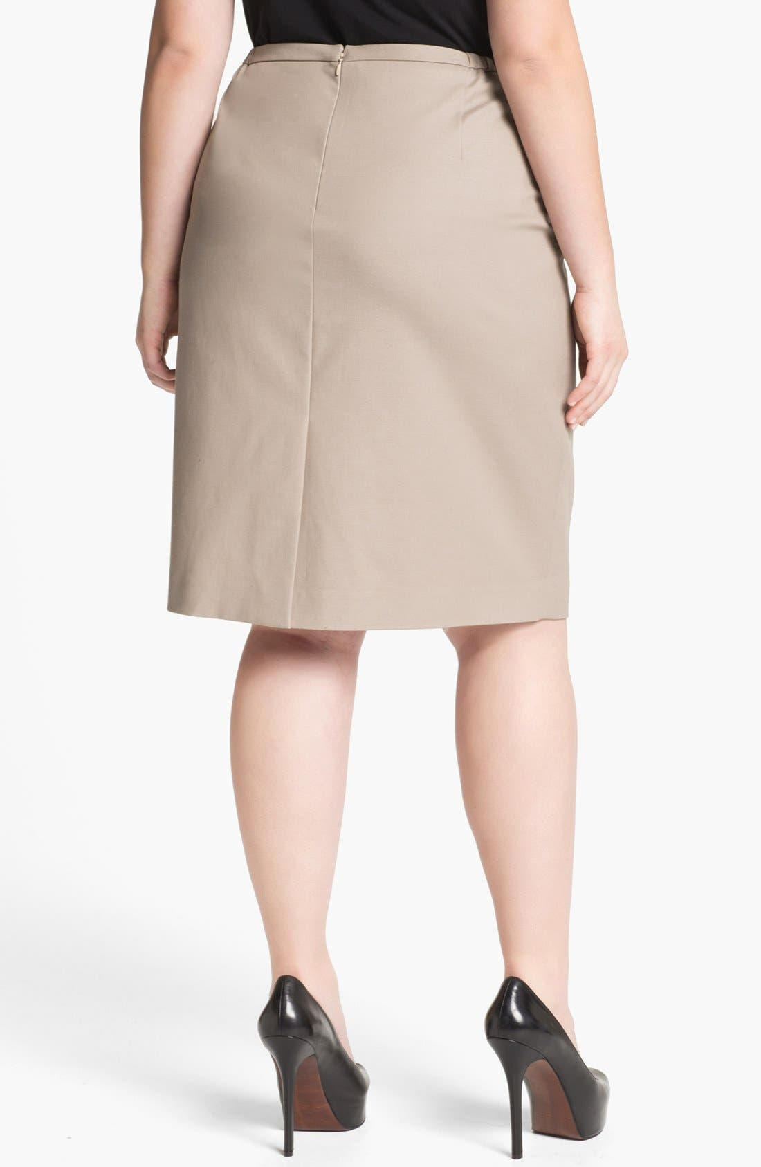 Alternate Image 2  - Tahari Woman 'Zander' Pencil Skirt (Plus Size)
