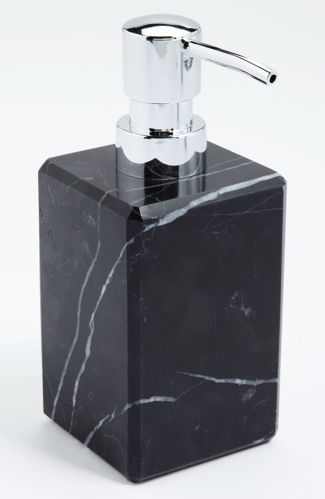 Alternate Image 1 Selected - Waterworks Studio 'Luna' Black Marble Soap Dispenser (Online Only)