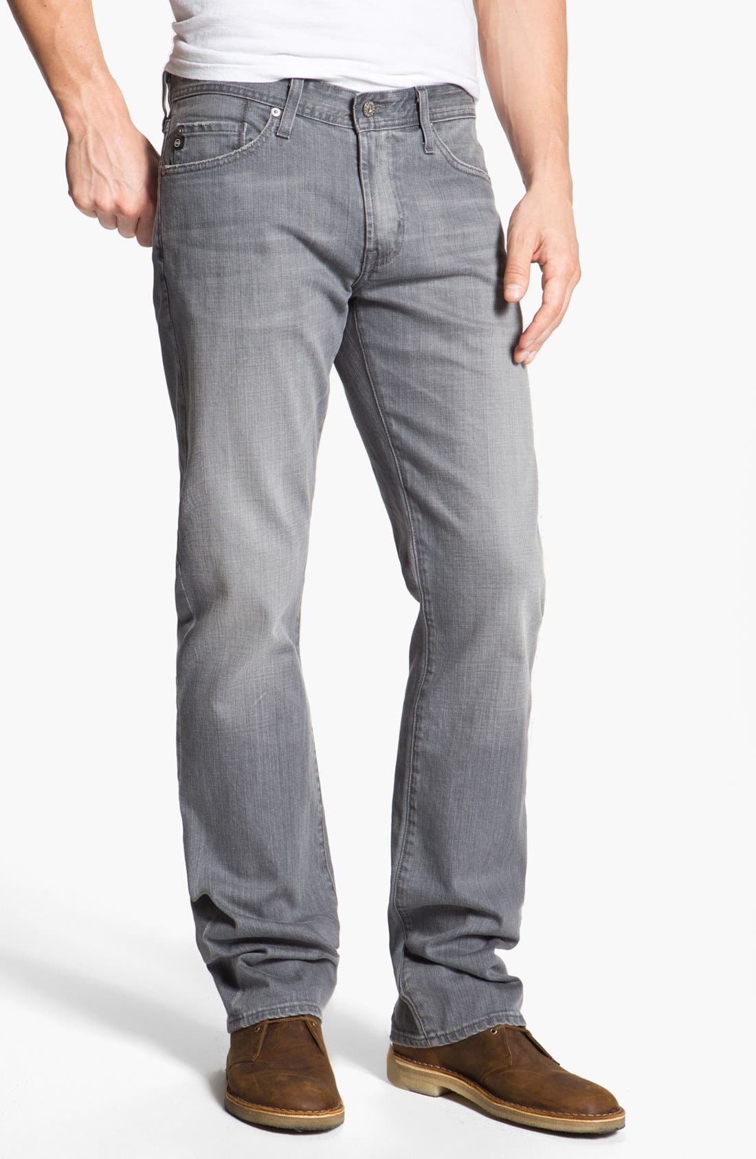 Alternate Image 1 Selected - AG 'Protégé' Straight Leg Jeans (Malt)