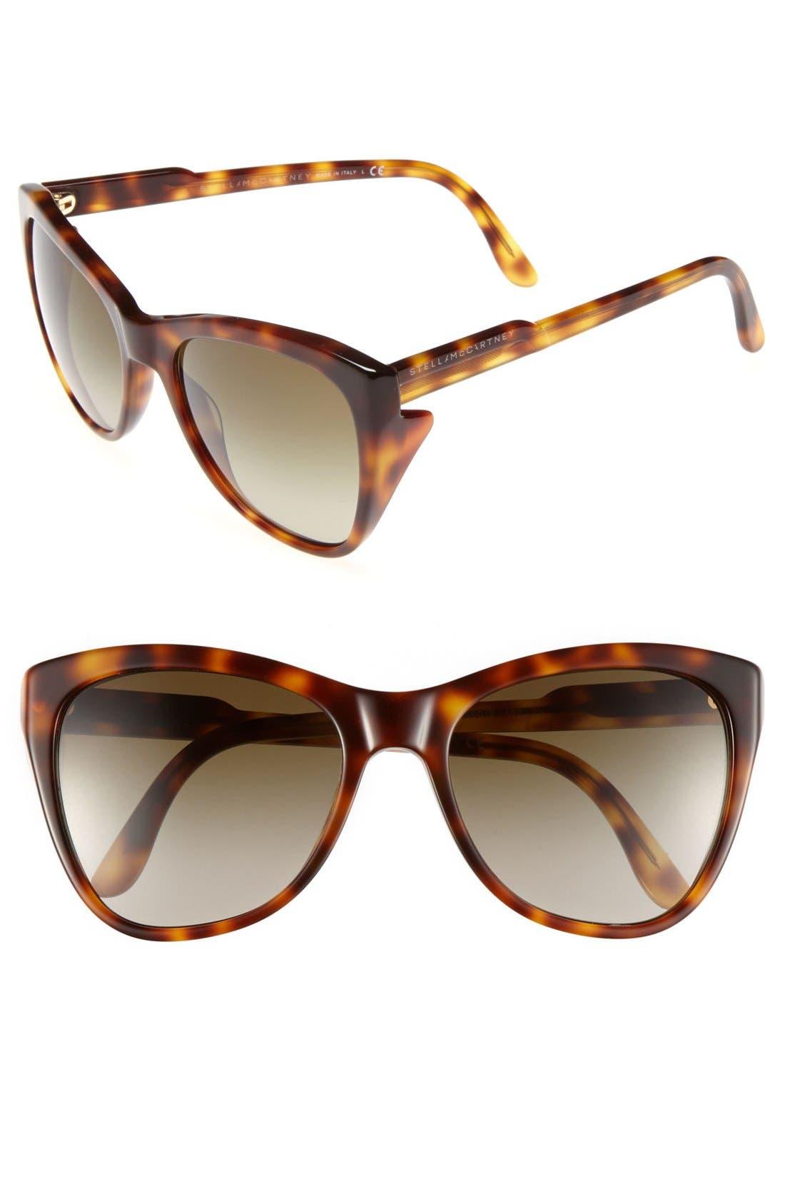 Main Image - Stella McCartney 56mm Retro Sunglasses