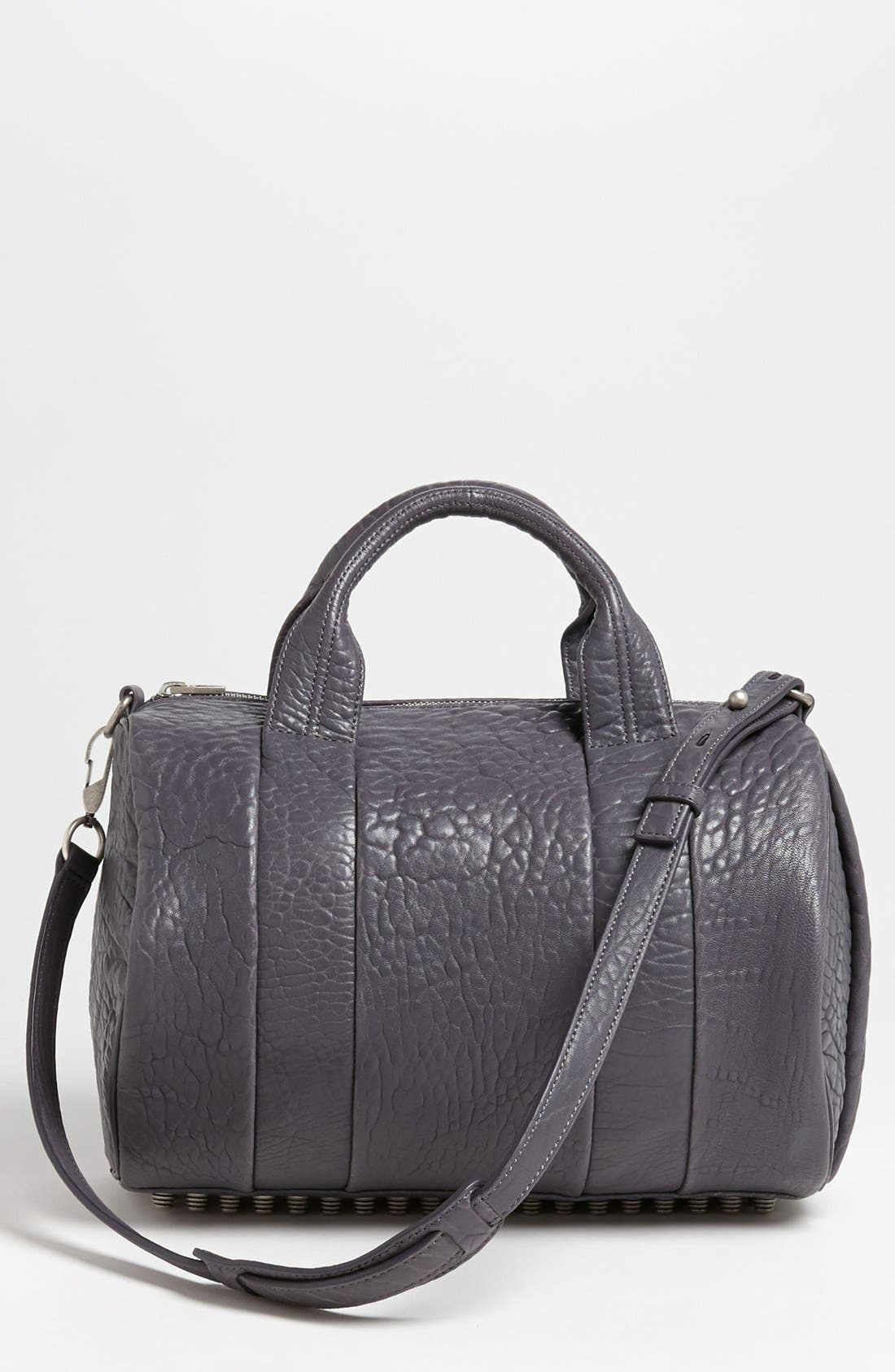 Main Image - Alexander Wang 'Rocco - Antique Silver' Leather Satchel