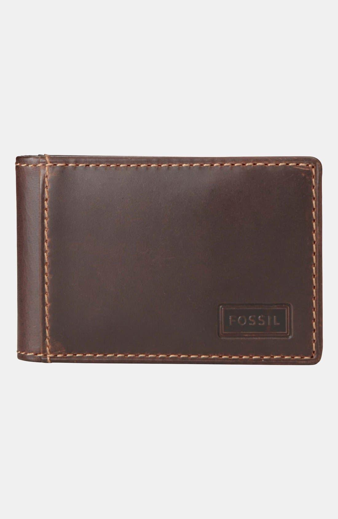 Main Image - Fossil 'Sam' Flip Money Clip Wallet