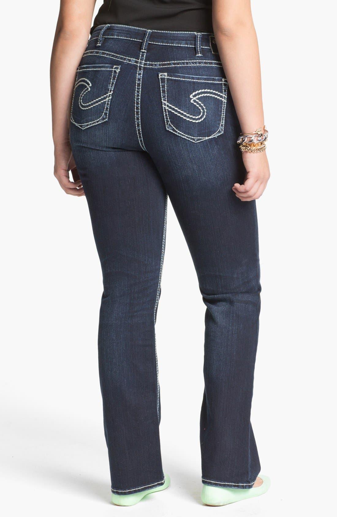 Alternate Image 2  - Silver Jeans Co. 'Natsuki' Bootcut Jeans (Juniors Plus)