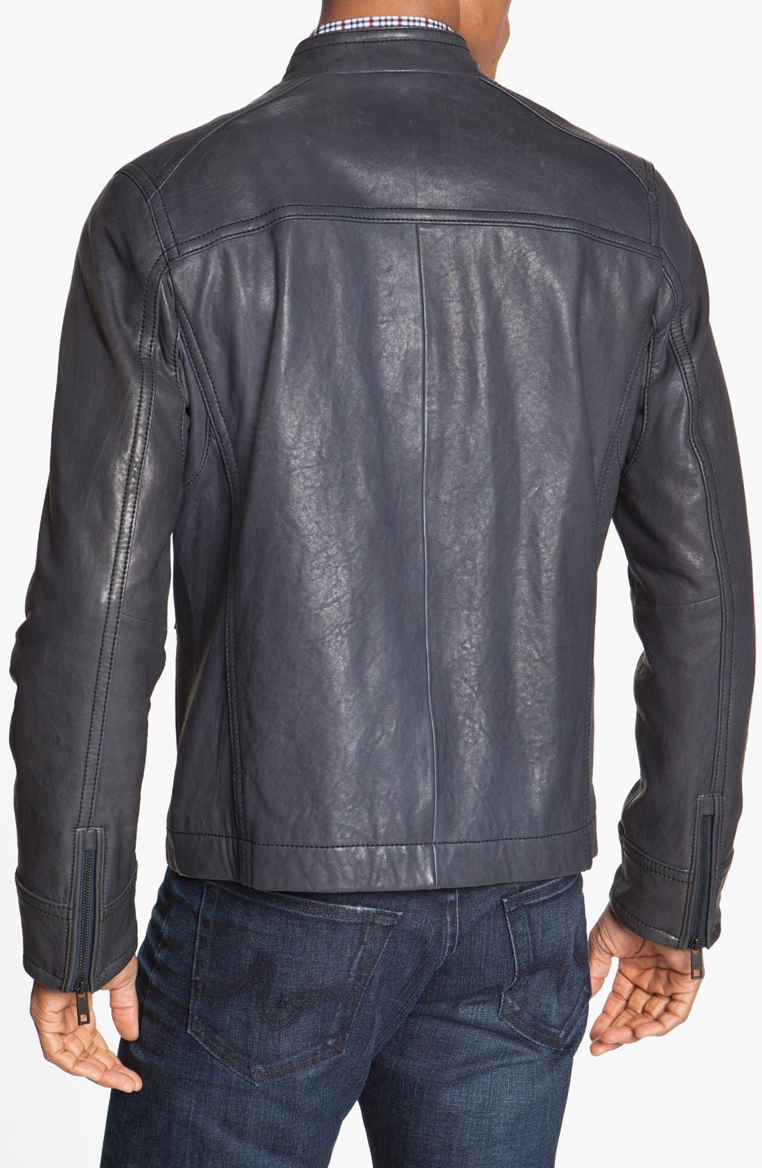 Alternate Image 2  - Andrew Marc 'Forest' Leather Moto Jacket